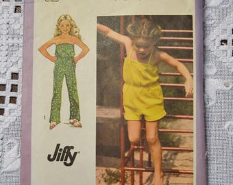 Simplicity 9395 Sewing Pattern Girls Jumpsuit Tube Top Size 3  DIY Sewing Vintage Sewing Pattern PanchosPorch