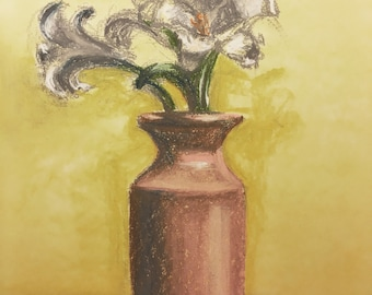 Lillies, A Study, original pastel drawing and limited hand signed prints available