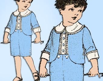 1920s Original Vintage Pictorial Review Sewing Pattern 9401 Little Boys Suit Sz7
