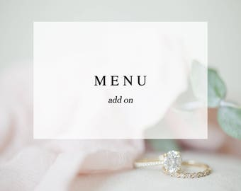 Menu Add On - Made to Match