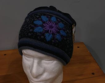 Alpaca Hat Twilight Cap Lined- Blue