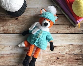 Stuffed fox/Crochet fox/Amigurumi animals/Nursery decor/Amigurumi fox/Stuffed animals/Knitted fox/Plush fox/Fox toy/Fox nursery/Animal plush