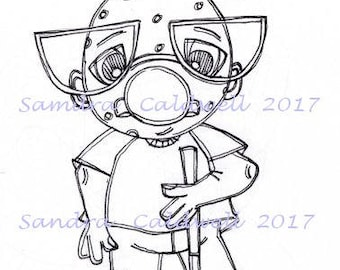 1610 See How To Tee Me Off Digi Stamp