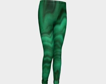 Green Slate Youth Leggings
