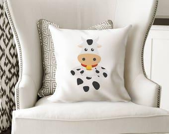 Kids Room Decor Ideas, Throw Pillow, Cow Pillow Cover, Children's Room Decorating Ideas