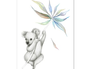 Koala Australiana Print A4