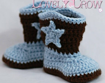 Cowboy Boots Crochet Pattern for Baby BOOT SCOOT'N BOOTS digital