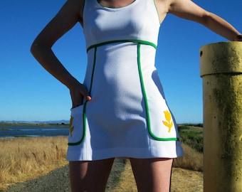 Tennis Dress Mini Dress 1970s Size Small