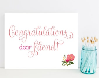 Fast Congratulations Card - Congrats Card for Friend