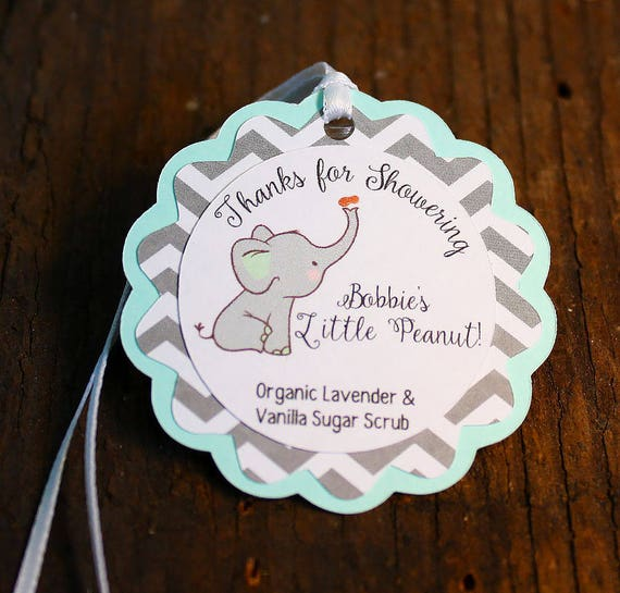 Elephant themed baby shower tag personalized gift tags or shower elephant themed baby shower tag personalized gift tags or shower favor tags custom labels custom gift card little peanut from collagestudio45 on etsy negle Gallery