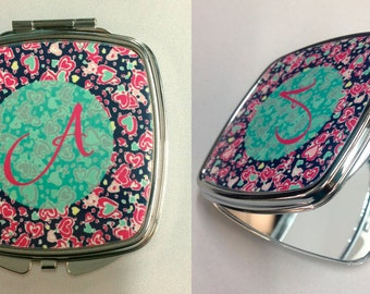 Personalized Compact Mirror. Custom Compact Mirror. Double Compact Mirror. Personalized Gifts. Salon Promotional Gifts