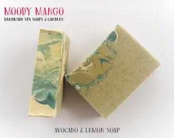 No34. 'AVOCADO AND LEMON' Handmade Soap