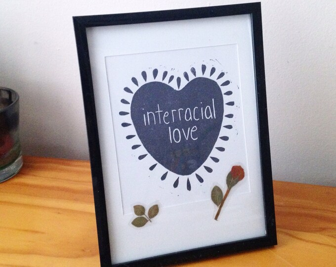 Interracial Love art print