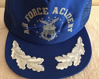 Air Force Academy Snapback Trucker Hat Blue/Gray/Silver