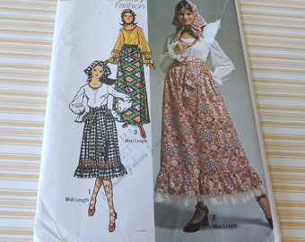 Simplicity 9112 Uncut size 10 Skirt, Blouse, Scarf and Sash pattern