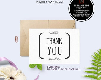 thank you cards, pdf, wedding thank you, thank you, thank you notes, thank you card set, wedding, thanks, thank you card, pdf template, 11