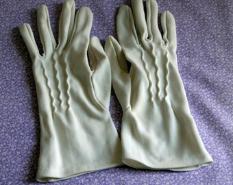 1950s nylon white gloves.