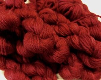 Mini skeins 30 meters MCN High Twist sock yarn - Raw Cranberry