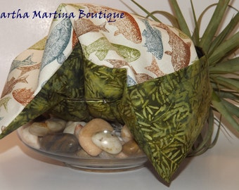 Ahhh-Maize-ing Corn Comfort Sak Multi Size Wrap 'Gone Fishing',Green, Blue, Crimson, Green, Microwave Corn Bag