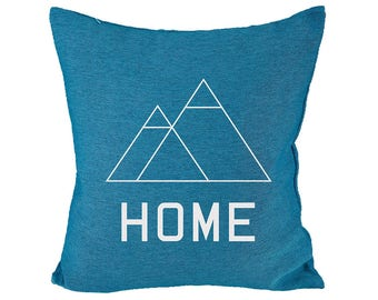 "HOME - Throw Pillow, Trendy Colors, Decorative Pillow, Accent Pillow - 18"" X 18"""