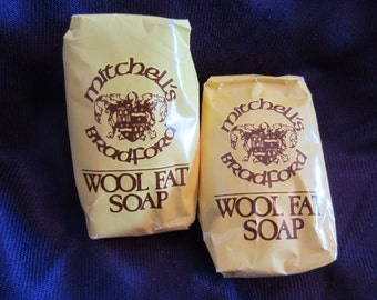 Mitchell's Wool Fat Bath Bar Soap 2 Bars Made in England SALE 10% Off
