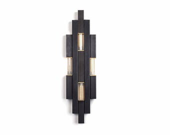 Nouveau Sconce | Modern Lighting | Industrial decor | modern decor | industrial modern | wall hanging | steel sculpture | designer lighti