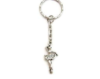 Ballerina Keychain Ballet Keychain Dancer Keychain  Dancer Gift Dance Keychain  Sports Keychain Ballerina Gifts Under 10
