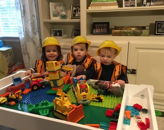Kids table with storage, Building bricks table, Activity table, Building blocks table, kids , compatible with duplo and  Lego® table, train