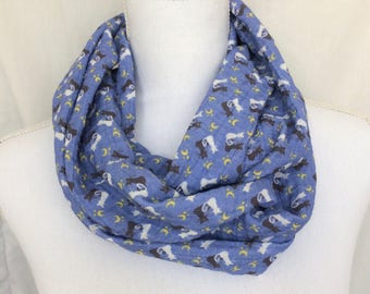 Sailor Scout Scarf - Anime Lover Gift - Cat Infinity Scarf - Cat Circle Scarf - Artemis Scarf- Luna Scarf