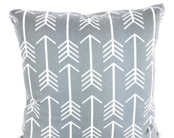 Grey white pillow Etsy