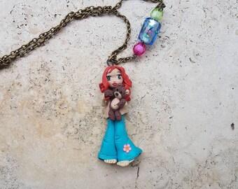 Fimo Doll with Teddy bear