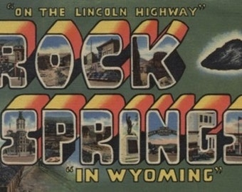 Greetings from Rock Springs, Wyoming (Art Prints available in multiple sizes)