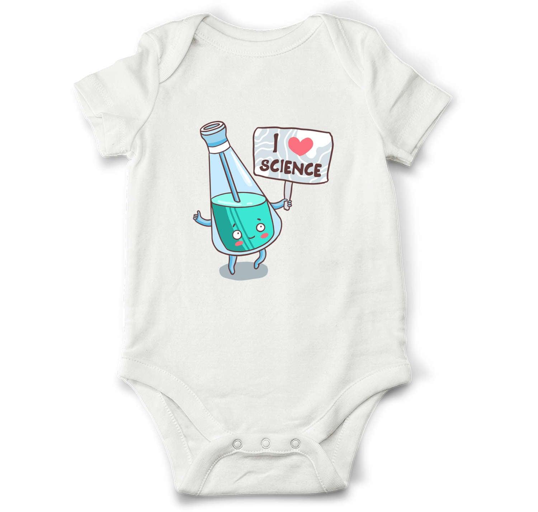 I love science baby bodysuit funny baby bodysuit science