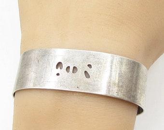 1978 leonore doskow 925 sterling silver - contemporary 18mm cuff bracelet b1214