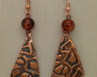 Dangled Copper Earrings