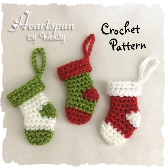 Crochet Pattern To Make This Mini Christmas Stocking Ornament