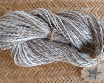 So Soft! Handspun Oatmeal Tasmanian Polwarth and Ivory Merino 2-Ply Yarn