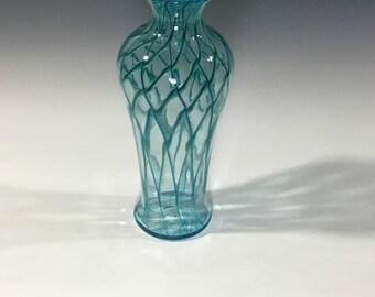 Aqua Powder Pale Green Vase hand blown home decor flower vase
