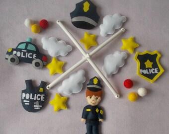 Baby crib Police mobile,Policeman mobile,boy mobile,baby kit mobile,baby cot mobile,baby bedding,custom mobile