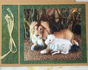 The Lion and the Lamb ~ Card