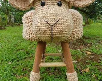 Sheep stool cover crochet (ENGLISH PATTERN)