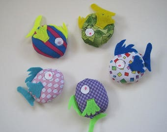 5 Cat Toy - Filled to the Gills with Catnip - Fish Cat Toy Filled with Organic Catnip