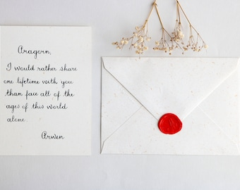 Love letter calligraphed by hand. Text to customize. French style