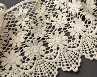 "4"" Vintage Cluny Lace Trim by 1 Yard, TR-10974"