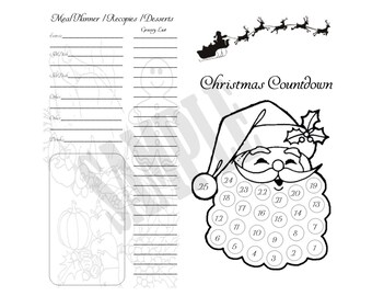 PRINTED Christmas Countdown/Insert For Your Traveler's Notebook