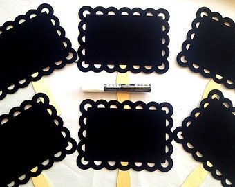 Scalloped Chalkboard Props Plus One Chalk Marker Photo Booth Wedding Photo Props Birthday Photo Props