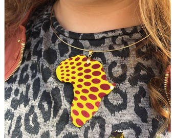 Africa - 29 wax fabric necklace