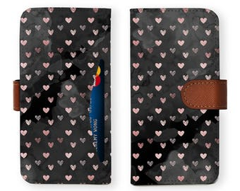 iphone 6 plus wallet detachable brown genuine leather wallet for apple iphone 6 6s 7 plus samsung galaxy s8 s8 plus pink heart black