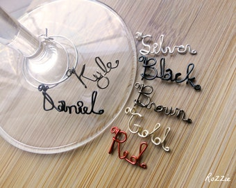 Custome Wire Name Charms Set of 11 charms