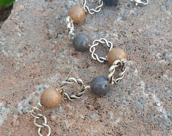 Memorial Bead Bracelet - Custom Keepsake Stoneware Pottery Pet Cremains Jewelry - LOVE ME KNOTS Beaded Bracelet